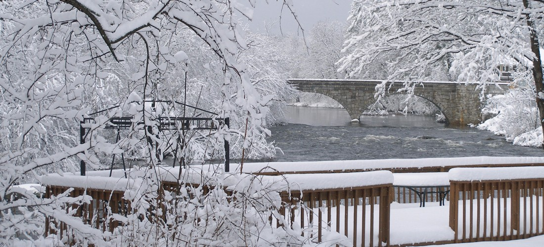 Bridge and Deck in Winter