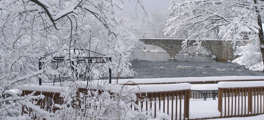 Bridge and Deck in Winter