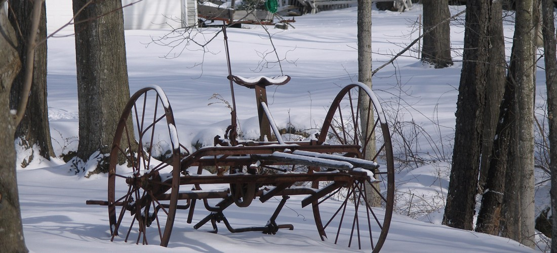 Old Plow in Snow